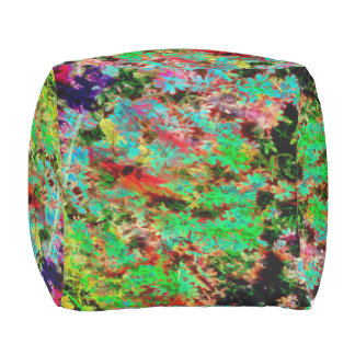 Fun Neon Rainbow Spring Flower poof- for outdoors! Outdoor Pouf