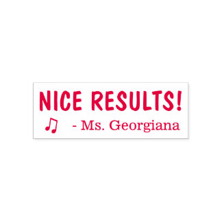 """Fun """"NICE RESULTS!"""" Educator Rubber Stamp"""