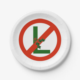 "Fun Noel ""No L"" Christmas Party Paper Plate"