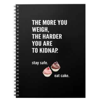 Fun note book. Anti-diet. Cake, sweets Notebook