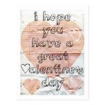 Fun notebook Valentine Post Cards