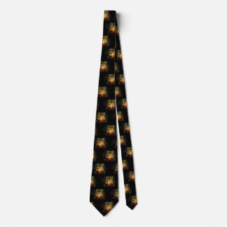 Fun Novelty Black Gold Fireworks 2019 New Years Neck Tie