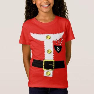 Fun Novelty Christmas Santa Claus Costume Graphic T-Shirt