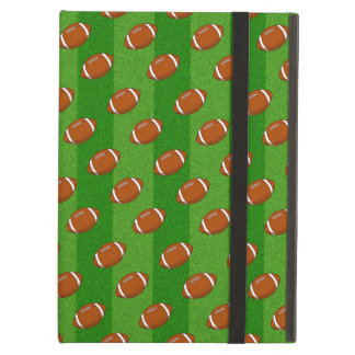 Fun Novelty Football and Green Grass Pattern Case For iPad Air