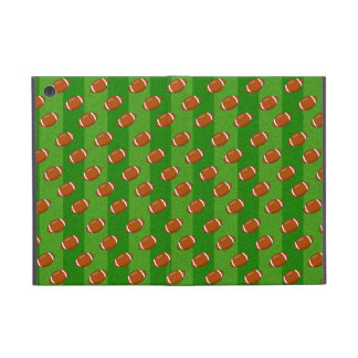 Fun Novelty Football and Green Grass Pattern Cover For iPad Mini