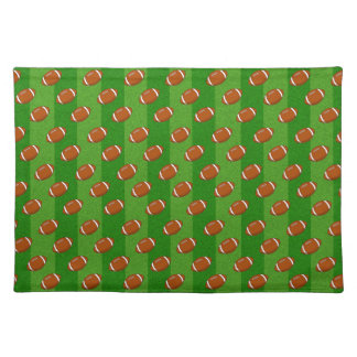 Fun Novelty Football and Green Grass Pattern Placemat
