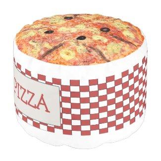 Fun Novelty Pizza And Pizza Box Pouf