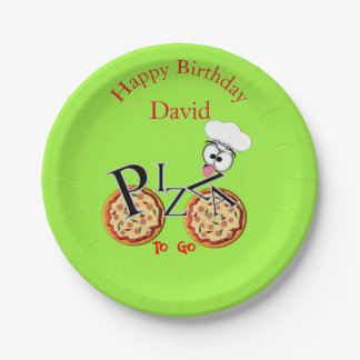 Fun Novelty Pizza To Go 7 Inch Paper Plate