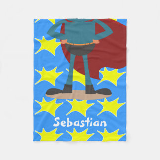 Fun Novelty Superhero Personalized Fleece Blanket