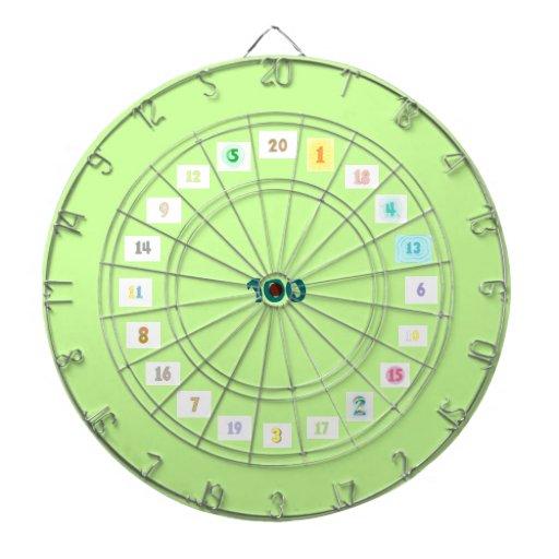 Fun Numbers in Colors Dart Board