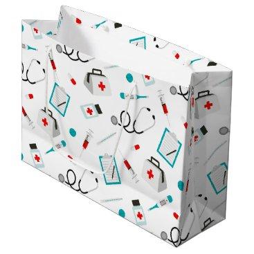 doodlesgifts Fun Nurse equipment pattern party bag