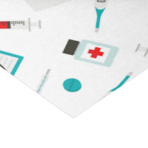 fun Nurse equipment pattern party tissue paper