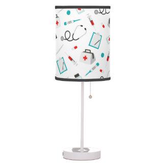 Fun Nurse pattern home office decor lamp