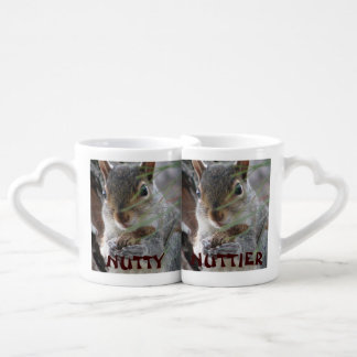 Fun Nutty And Nuttier Squirrel Humor Nesting Mugs Couple Mugs