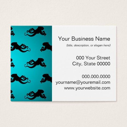 Fun Octopus Pattern on Bright Turquoise Business Card