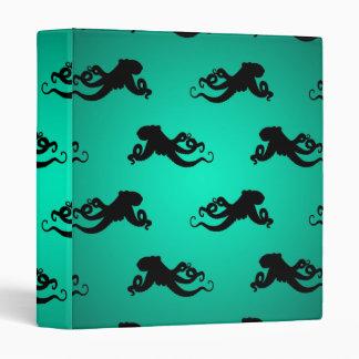 Fun Octopus Silhouettes on Green Binder