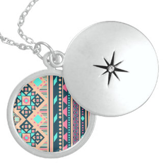 Fun Okay Soulful Effervescent Round Locket Necklace