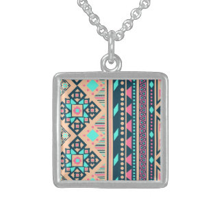 Fun Okay Soulful Effervescent Square Pendant Necklace