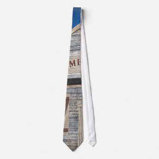 Fun Old West Theme Barn Wood (ME) Silky Mens' Tie