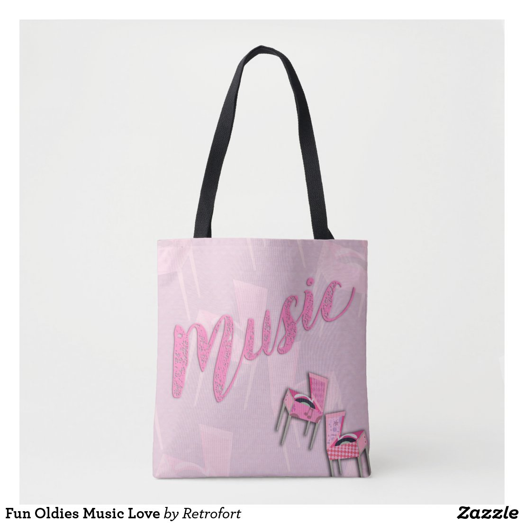 Fun Oldies Music Love Tote Bag