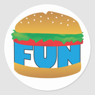 Fun on a Bun Classic Round Sticker