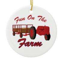 Fun On Farm Ceramic Ornament