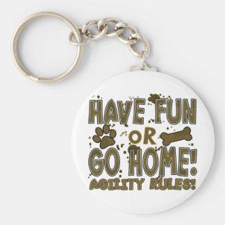 Fun or Home Dog Agility Keychain