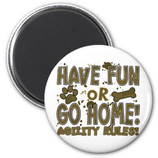 Fun or Home Dog Agility Magnet