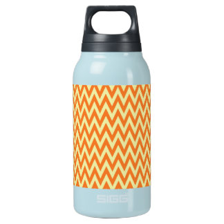 Fun Orange and Cream Chevron Zig Zag Stripes Insulated Water Bottle