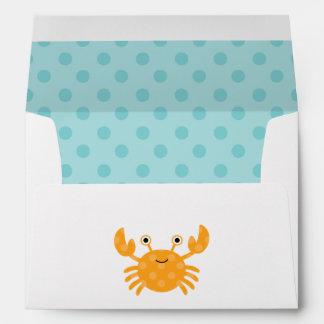 Fun Orange Crab Envelope