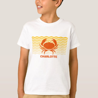Fun orange crab on the sandy seashore T-Shirt