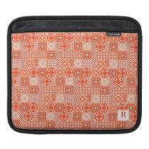 Fun Orange Geometric Patterns iPad Sleeve