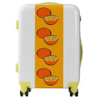 Cartoon Oranges Design Suitcase Luggage