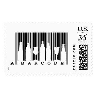 Fun original © black and white bar code (barcode), postage
