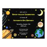 Fun Outer Space Invitation