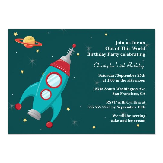 astronaut party invitations - 540×540