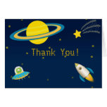 Fun Outer Space Rocket Thank You Card