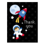 Fun outerspace astronaut thank you postcard