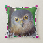Fun Owl and Crossword Pillow