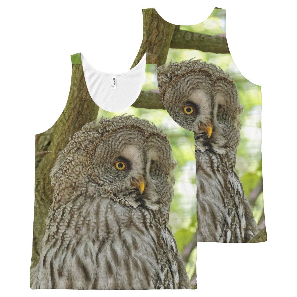 Owl print Tank Top