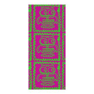 Fun Owls Patchwork Quilt Squares Purple Lime Green Announcements