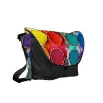 funny, color box, art, paint, cool, painter, paint color box, fun, fine art, full color, artist, abstract, color, bag, Rickshaw messenger bag with custom graphic design