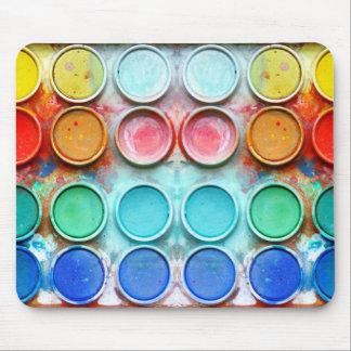 Fun paint color box mouse pad