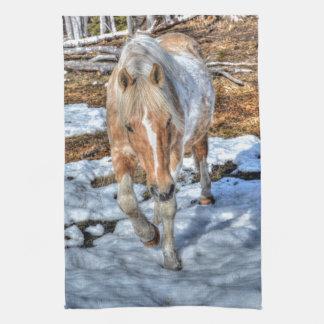 Fun Palomino Paint Ranch Horse Animal-lover Photo Hand Towels