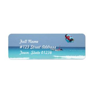 Fun Parasailing Return Address Label