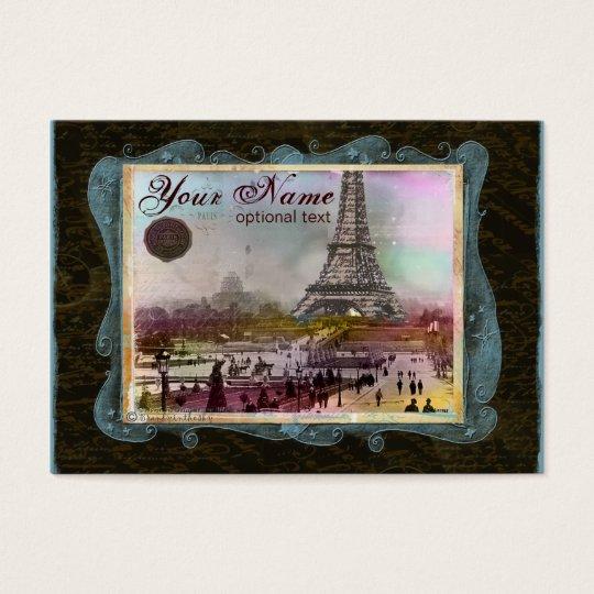 Fun Paris Eiffel Tower Collage Business Cards