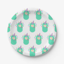 Fun Party Emoji Llama Paper Plate