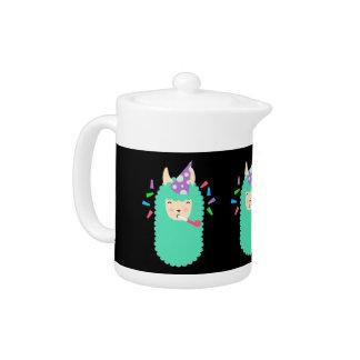 Fun Party Emoji Llama Teapot