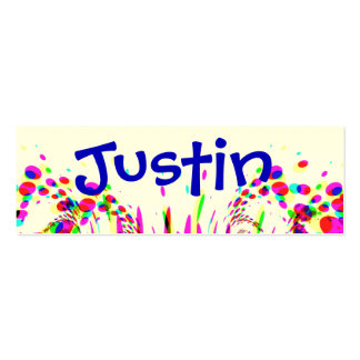 Fun Party Name Card With Colorful Confetti Double-Sided Mini Business Cards (Pack Of 20)