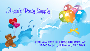 Fun Party Supplies Business Card